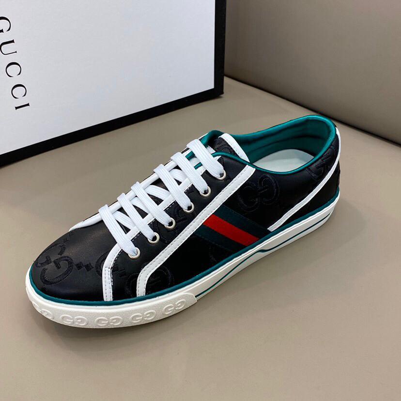 Le migliori scarpe di marca delle donne degli uomini di lusso asso blu rosso blu a strisce Genuine Leather Sneaker scarpe casual bianco nero formato 38-44 RD577