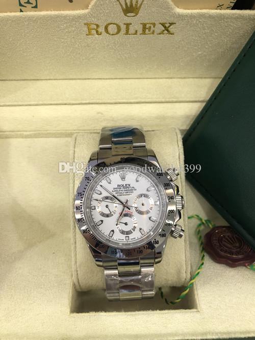 15 cores Dial Com originais da caixa de luxo Sapphire 40 milímetros 116520 Automático Mecânica Mens de Men Watch Watches Não Chronograph