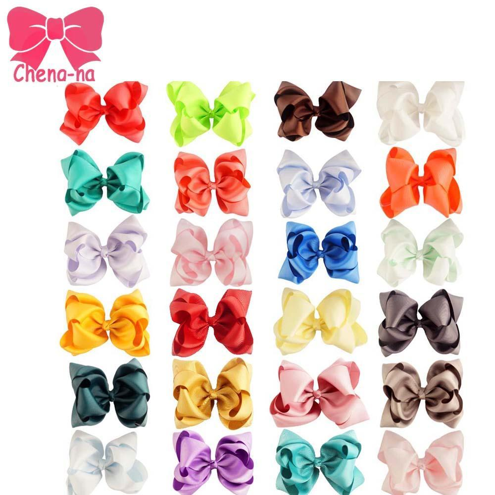 "5/"" Girls Kids Boutique Hair Bow Alligator Clip Grosgrain Ribbon Hair Clips Lot"