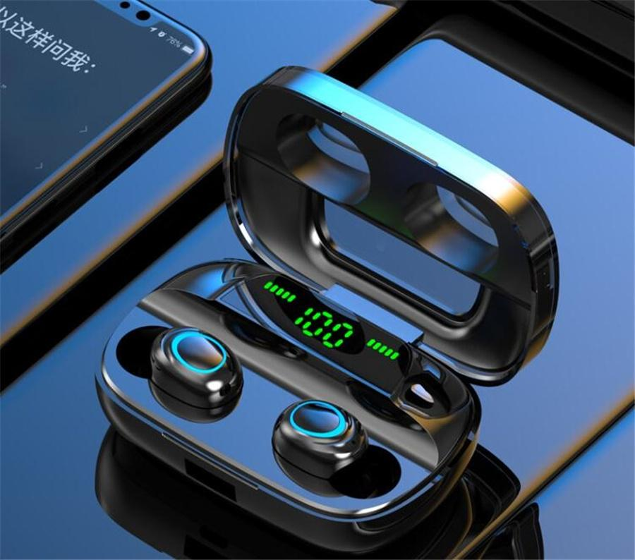 Macaron TW60 inalámbrica Bluetooth para auriculares 5.0 TWS Headset Touch Control Auriculares Surround Bass y se carga la caja Auricular Auricular
