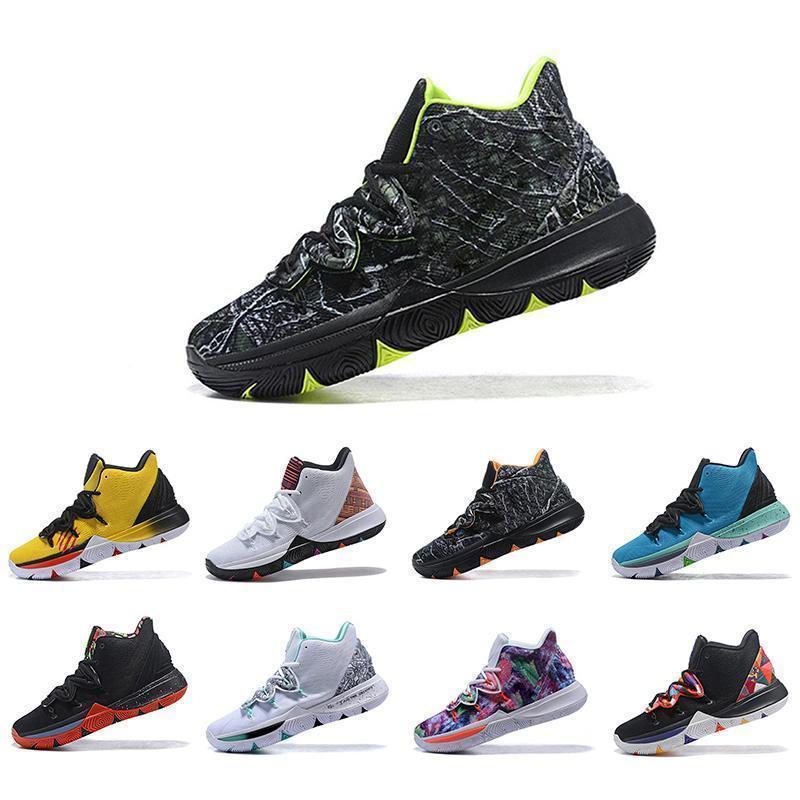 Kyrie CHAUSSURES için Ücretsiz Kargo Irving Limited 5 Erkekler Basketbol Ayakkabı 5s Black Magic de basket bol Mens Eğitmenler Tasarımcı Sneakers 7-12
