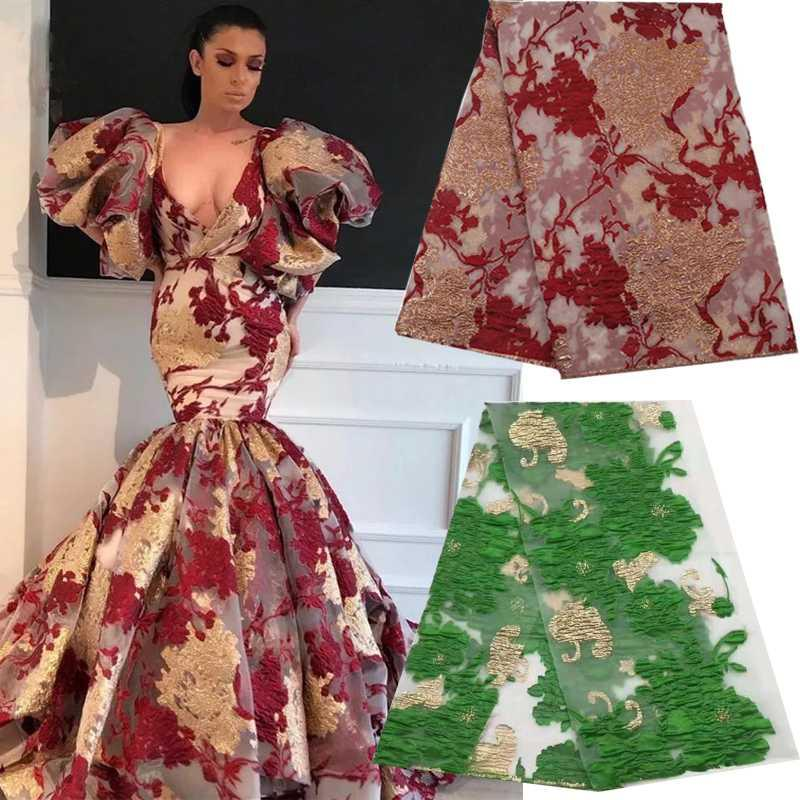 Commercio all'ingrosso africano Nigeria tulle tessuti tessuto di pizzo cucito patchwork embroideried netti per abito da sposa migliori 5yards di qualità fai da te