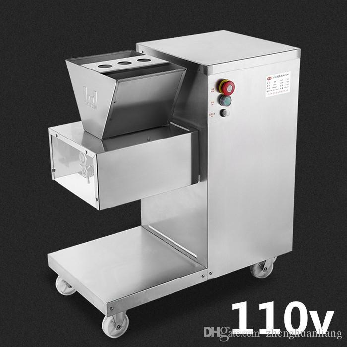 Großhandel - Freies Verschiffen 550W 110V QW Fleischschneidemaschine, Fleischschneider, Fleischschneider, 800kg / HR Fleischverarbeitungsmaschinen