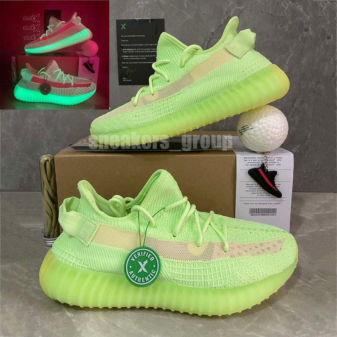 Top Quality Kanye West Glow In The Duck Terra Cinder Scarpe Yecheil Yeshaya Zyon Zebra Lino Lino statici Mens scarpe da ginnastica da donna di sport Corsa