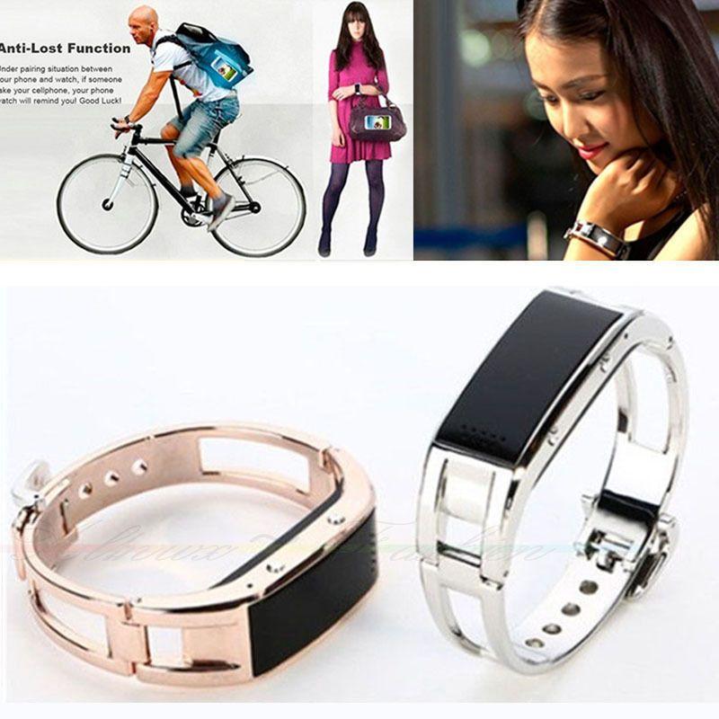Smart Montre Bluetooth Tracker J8 Fitness Caméra Rappel en acier inoxydable Bracelet Wearable Passometer Smart pour Android IOS Wristwatch Phone