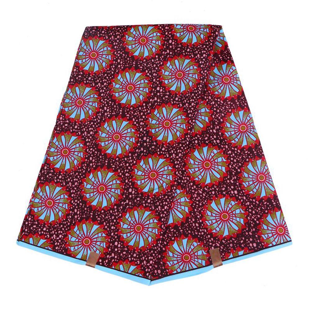 Новые прибытия полиэстер воск печатает ткань Анкара Binta реальный воск высокое качество 6 ярдов / лот Африканская ткань для платья партии FP6007