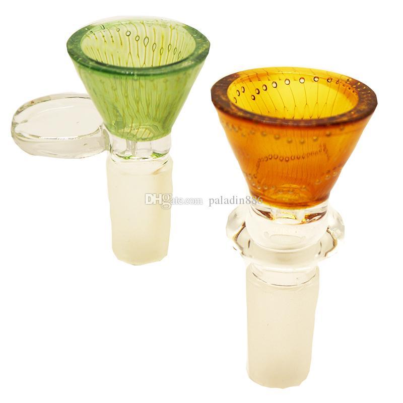 Glaskopf 14mm 18mm Male Joint Rauchen Mithelfer für Bohrinsel Dab Rig Glas Bubbler Und Aschfänger Glas Bong Wasserpfeife