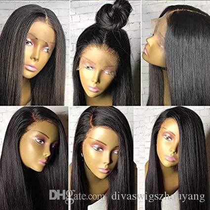 Lace Front человека парики волос Straight Pre щипковых Hairline волос младенца 130% малазийский Remy человеческих волос 360 Кружева Фронтальная парики