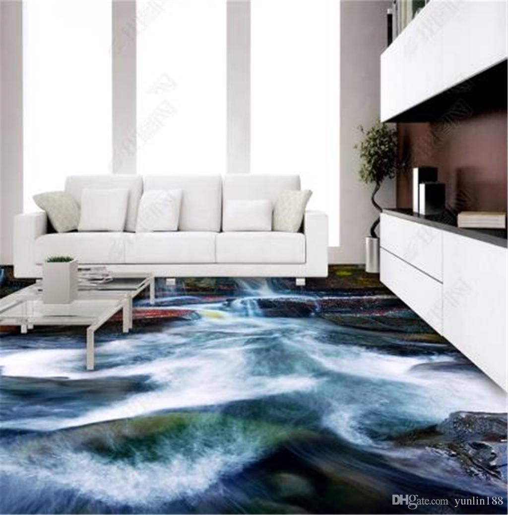 Grosshandel Benutzerdefinierte Fototapete 3d Wasserfall Wohnzimmer Badezimmer 3d Boden Fliesen Mural Wallpaper Von Yunlin188 50 26 Auf De Dhgate Com