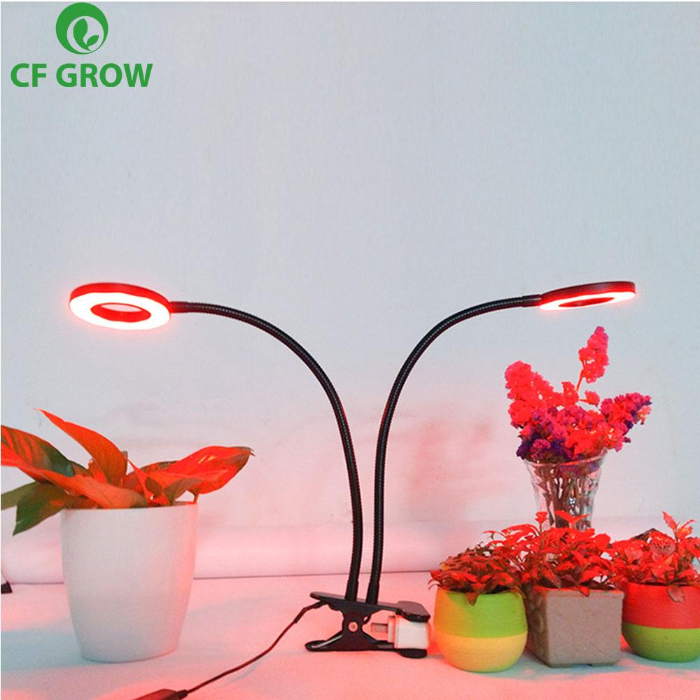 CF Grow Three Head Led Grow Light Clip Base10W 27W 54 LEDs Dimmable Plant Growing Lamp for Office Indoor Greenhouse Plants Herbs