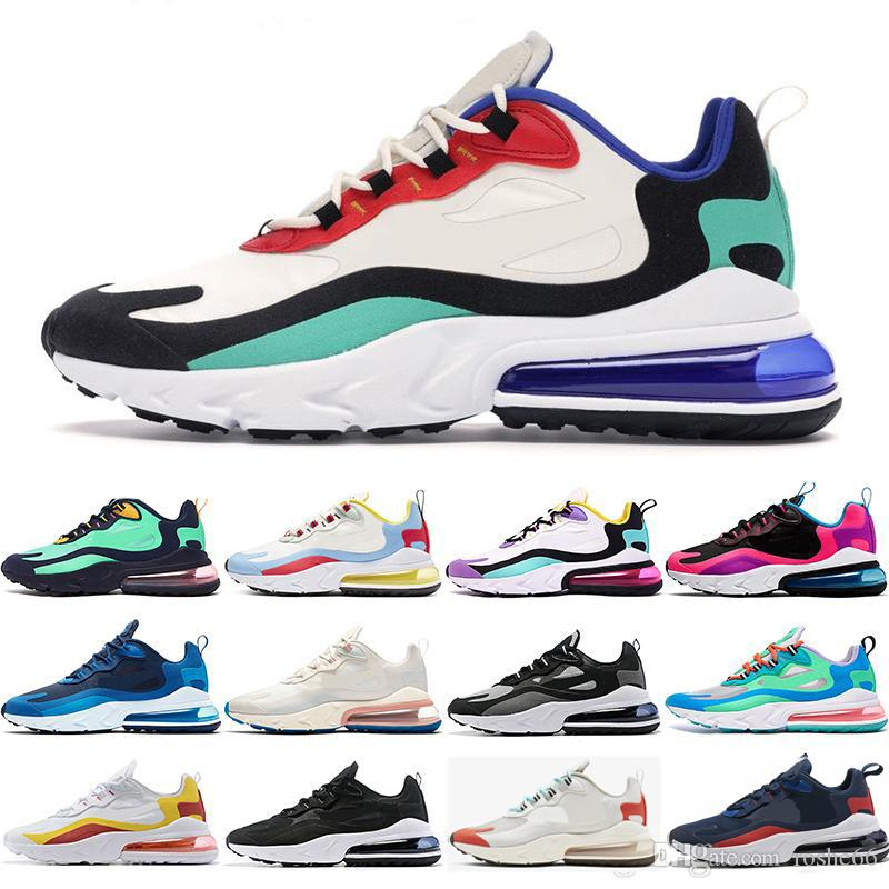 Free shipping 2020 Reagire tn uomo formatori Triple BAUHAUS OPTICAL VUOTO BLU bianco donne Presto Designer Outdoor Sports Scarpe scarpe Taglia 13