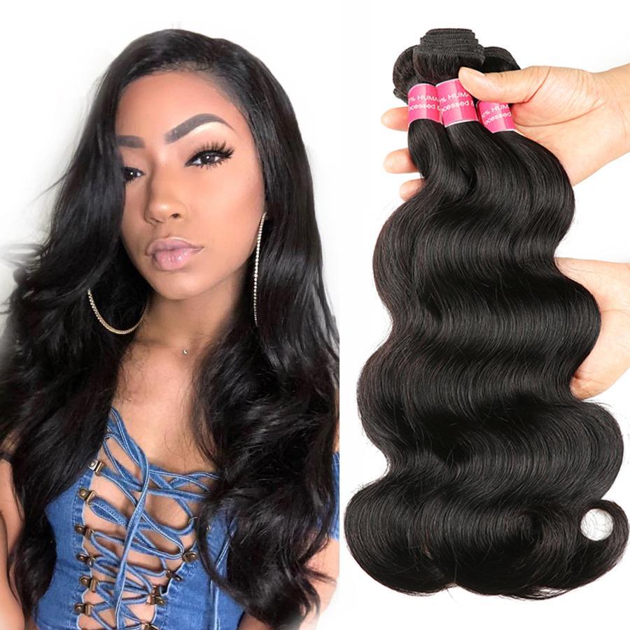 8а класс Virgin бразильские волосы Объемная волна Необработанные бразильский Remy волос Оптовая бразильская индийская малазийский перуанский человеческих волос