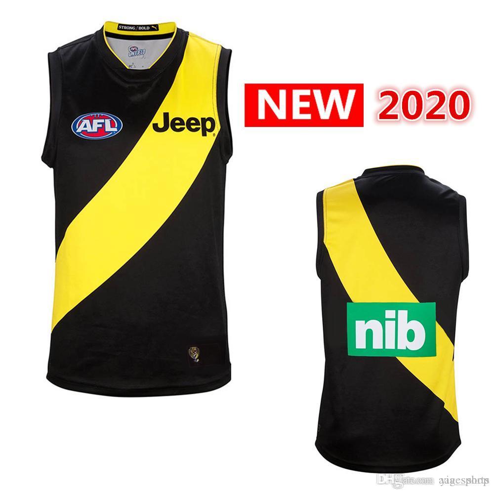 Melhor Qualidade 2020, todas as AFL jersey Richmond tigres colete Adelaide Crows costa ocidental das águias GWS Guernsey Rugby Jerseys singlet