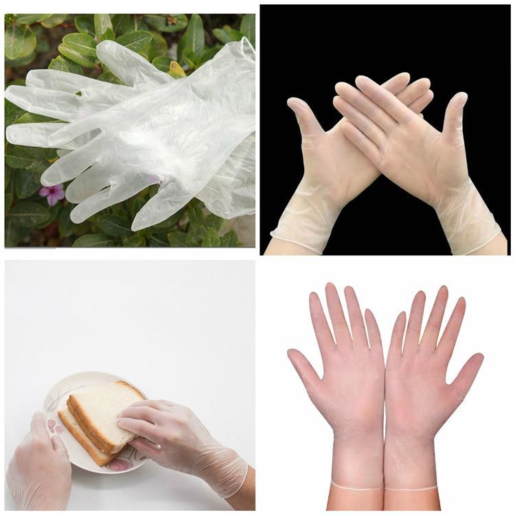 100pcs / lot gants jetables en PVC gants matériaux à haute densité en caoutchouc Gants de nettoyage T3I5700