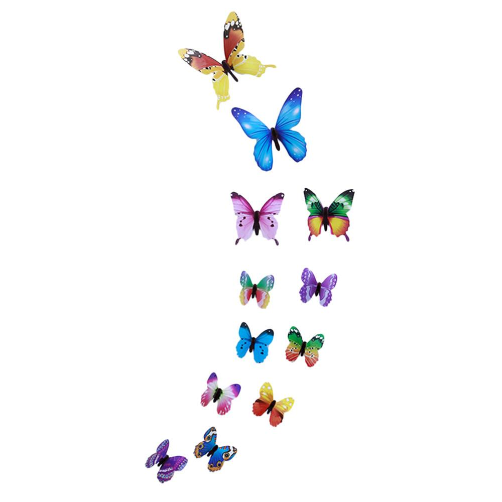12pcs 3D High Quality Butterfly Decal Art Wall Stickers Room Magnetic Home Decor