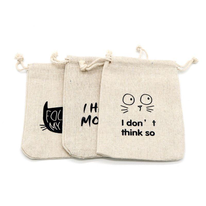 100 قطع 13 * 18 سنتيمتر أكياس القطن reusable صديقة للبيئة القماش الجوت حقيبة لمجوهرات عرض تخزين هدية حقيبة التعبئة الحلوى القهوة حبة لعبة