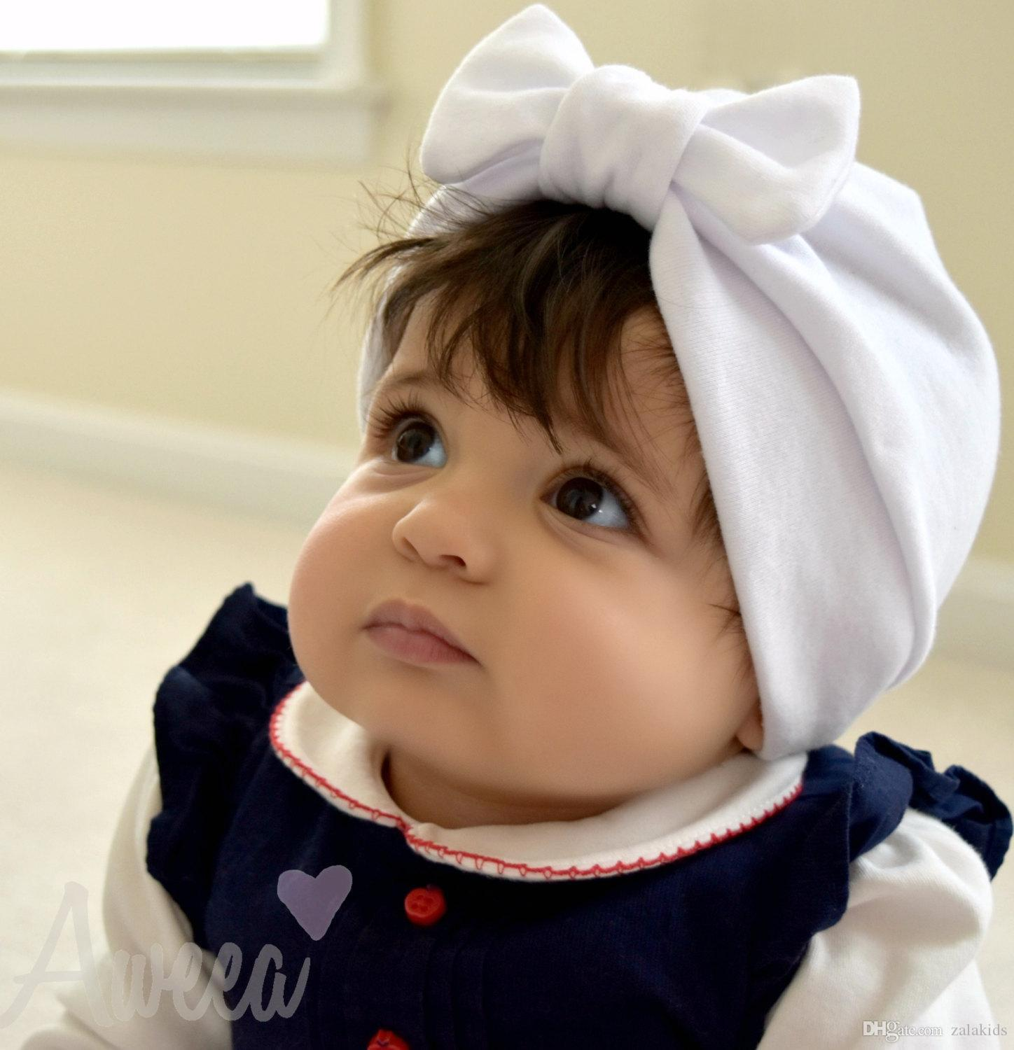New Spring Summer Kids Casual Hat Baby Toddler Boy Girl Bowknot Lovely Soft Hat