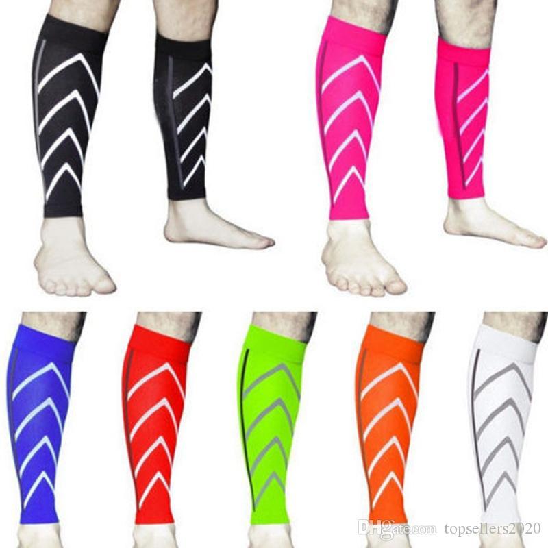 polainas fluorescentes calcetines de baloncesto funcionamiento de la noche de nylon 2020 de ciclo de compresión de deportes delgada piel de becerro medias de compresión medias