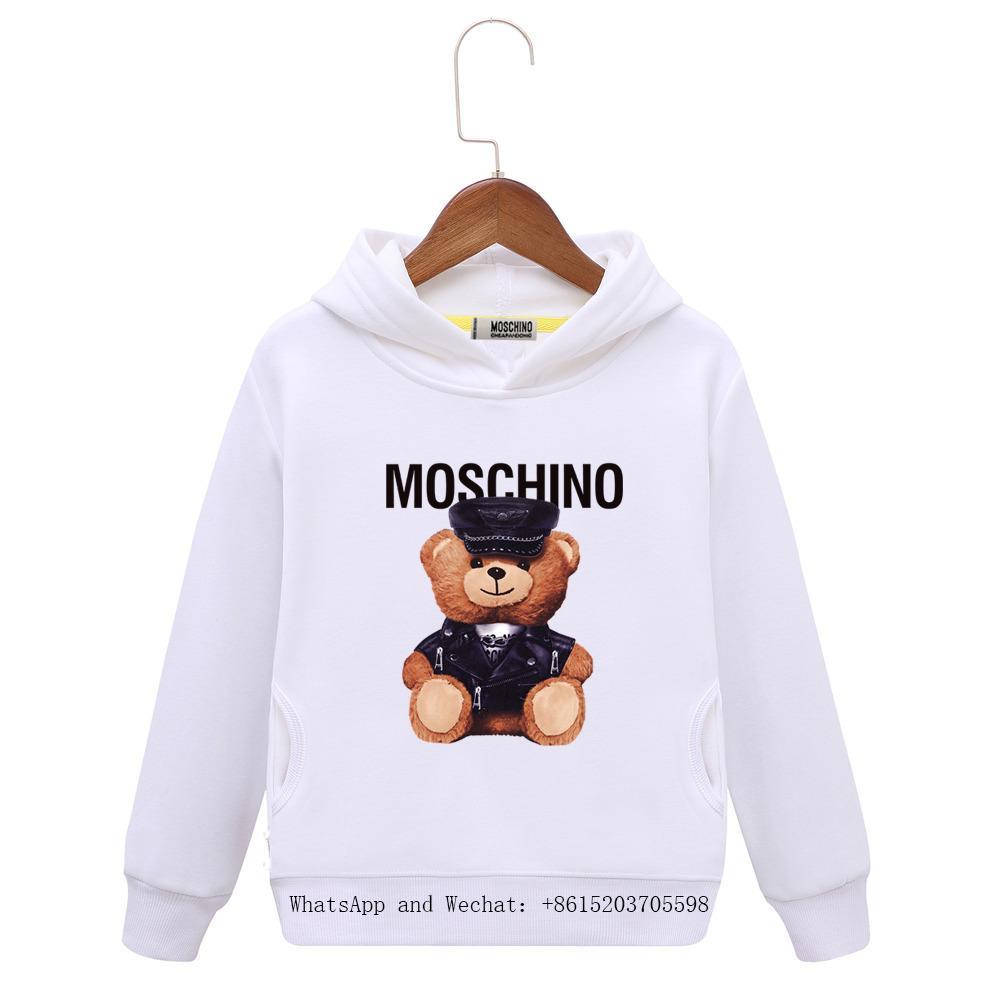 Primavera Abbigliamento per bambini Giacca per bambini Manica testa maglione in puro cotone Cartoon stampa ragazza colori ragazzi con cappuccio bambino abbigliamento