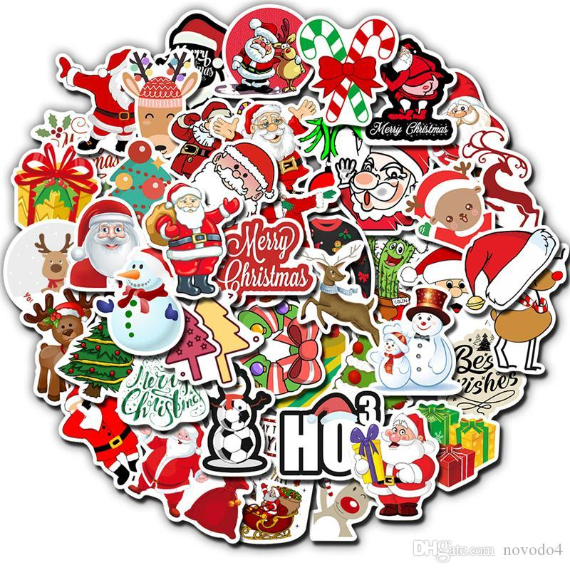 Christmas Decoration VSCO Girls Stickers Halloween Waterproof Sticker for fridge Luggage Suitcase Laptop Sticker 50pcs / 1 Opp bag Free
