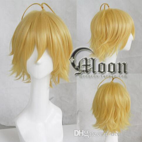 Free shipping the seven deadly sins / nanatsu no taizai gold party anime hair cosplay wig