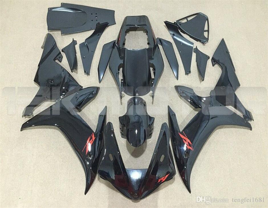 Le vendite calde nuovo ABS carenature del motociclo kit Fit per YAMAHA YZF-R1 2002 2003 R1 carene personalizzata gratuita luminoso nero