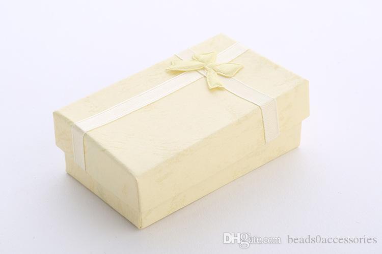 LT YELLOW 5 * 8 * 2.5cm Moda per Charms Perline Confezione regalo Confezioni per ciondoli Collane Orecchini Anelli Bracciali Gioielli Spedizione gratuita