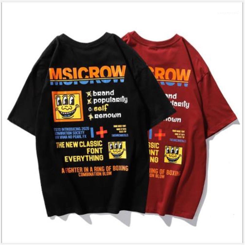 Lettre en vrac imprimé manches courtes Pull ras du cou T Mode Couple T-shirts Street Style Designer Hommes T-shirts Casual