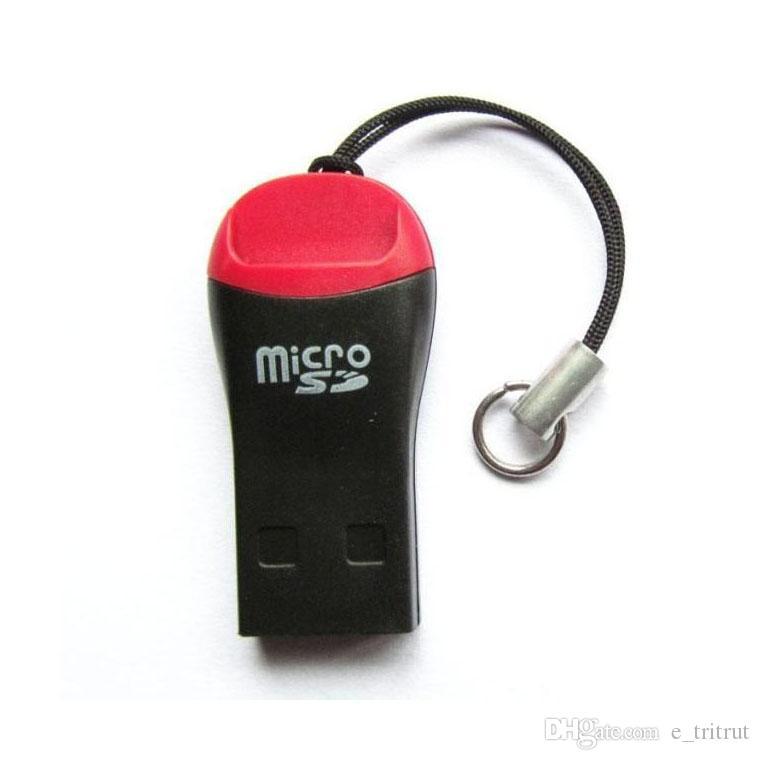 صافرة عالية السرعة البسيطة USB 2.0 T-فلاش قارئ بطاقة الذاكرة TF قارئ بطاقة SD الصغيرة cardreader MQ500