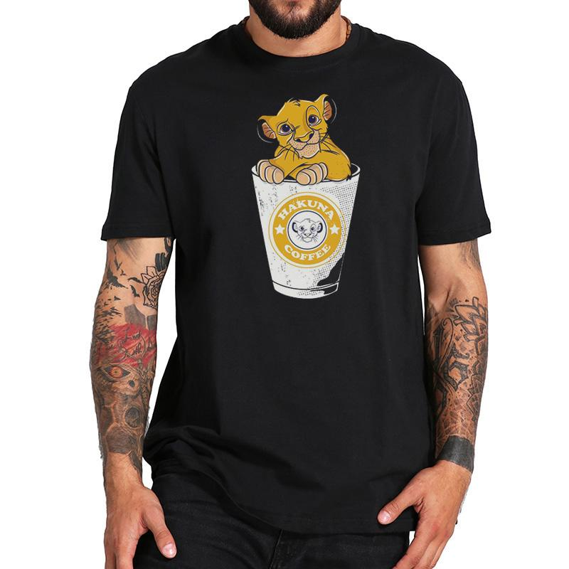 Divertente Hakuna Caffè T amante camicia caffè maglietta del leone del bambino in Coppa T-shirt camicia Re Leone tee New Boys Streetwear Top Panni