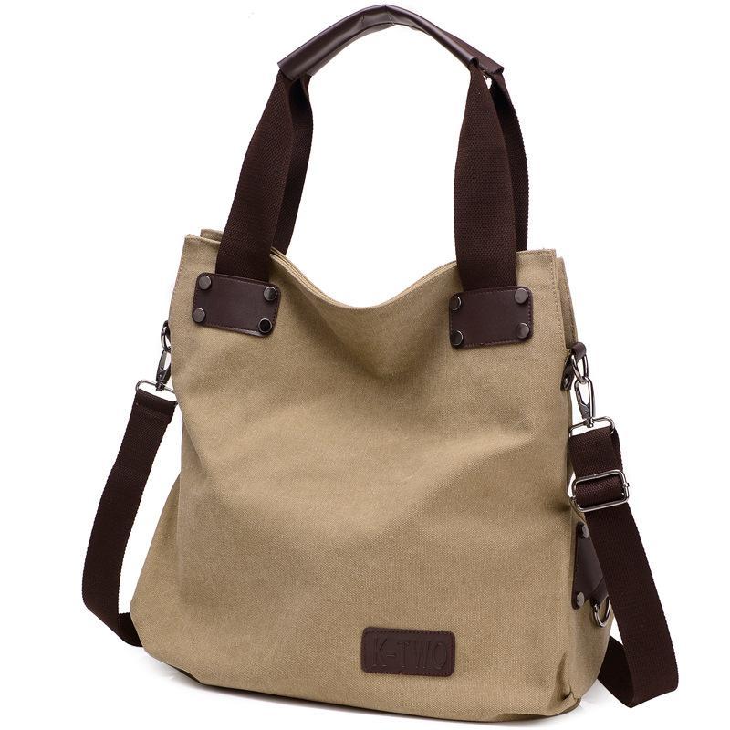 Women Retro Casual Canvas Shoulder Bag Handbags Large Capacity Bag Female Totes Ladies High Quality Bag