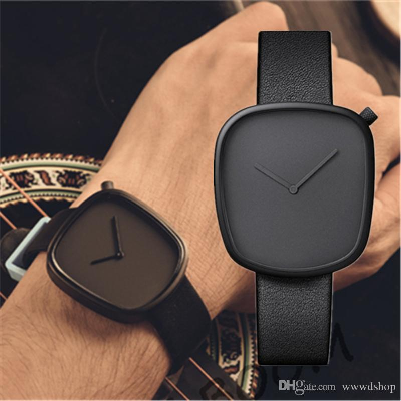 Neue Art und Weise der Frauen Mens-Uhr-Lederband 36mm Luxus Einfache Frauen-Uhr-Mädchen Daniel Quarzuhr Relogio Feminino Montre Femme