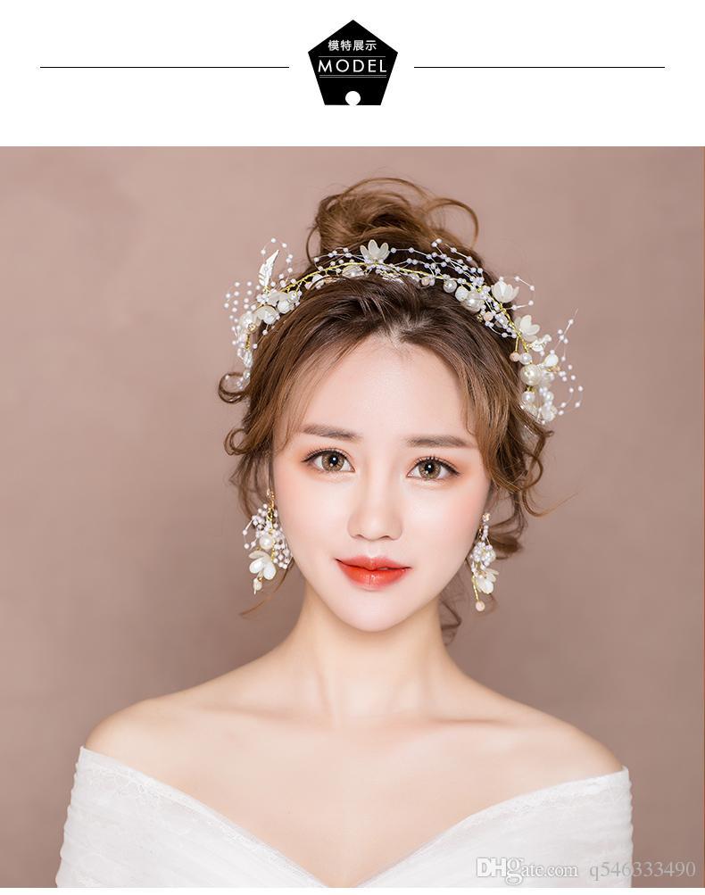 Bridal tiara new super fairy wedding hair accessories Mori Korean wedding toast clothing headband dress fairy accessories