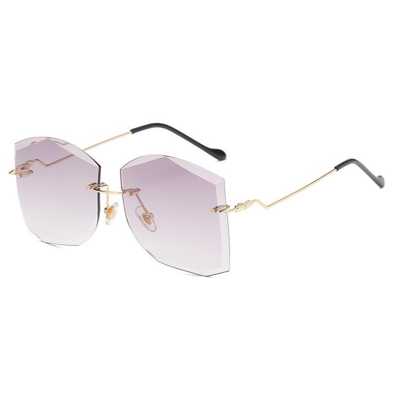 2020 Corte Beach Gafas de sol Mujer Edge Tide Tide Street New Fashion Fashion Gafas Sunglasses Fotografía Gafas de sol Wesbt