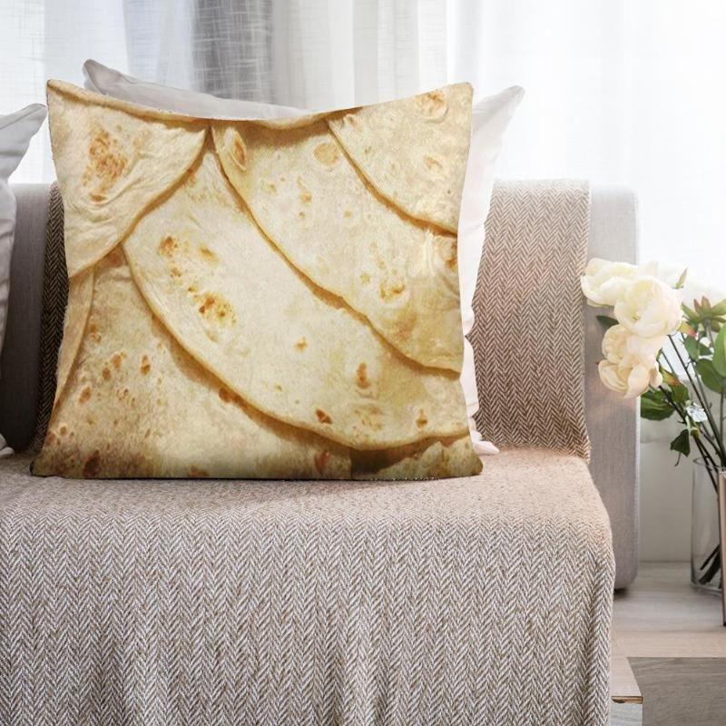 Cuscini Per Camera Da Letto.Acquista Snack Tortilla Pattern Lino Federa Copri Cuscino Camera