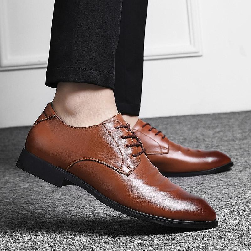 Formale kleidschuhe männer oxford echtes leder männer kleid schuhe business schuhe männer oxford leder zapatos de hombre 2019 neu
