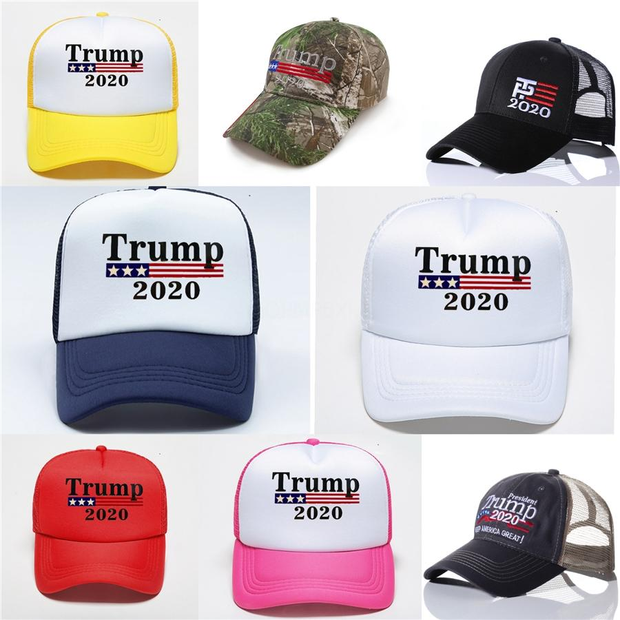 Trump 2020 İşlemeli Kepçe Cap Amerika Büyük Şapka Pamuk Sport Fisherman Cap Moda Seyahat Kamp Güneş Şapka # 276 tutun