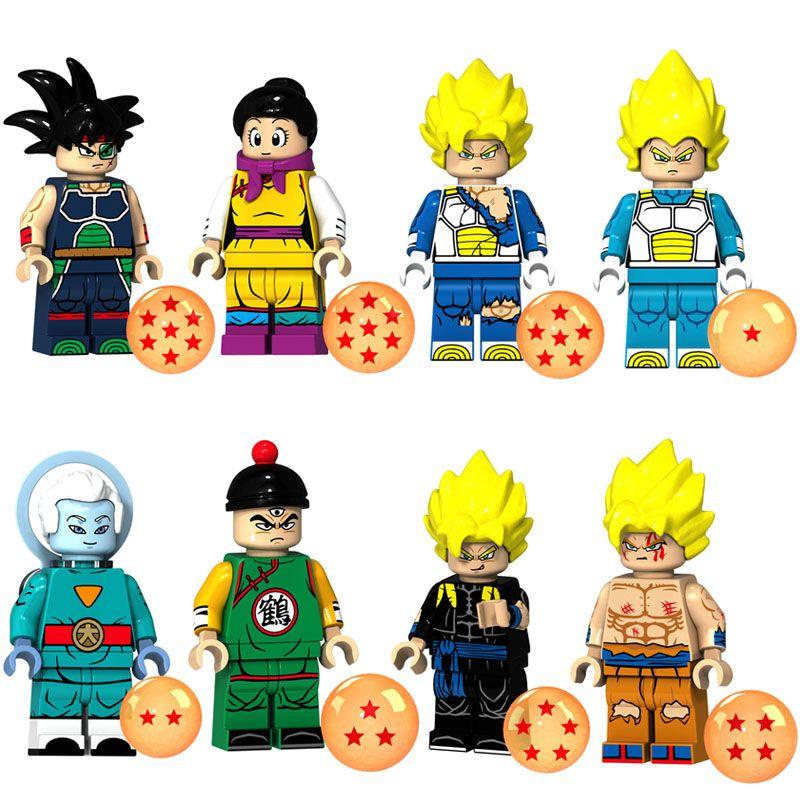 Educational Dragon Ball Z Super Saiyan Son Goku Grand Priest Gogeta Chichi Vegeta Tien Shinhan Bardock Mini Toy Figure Building Blocks
