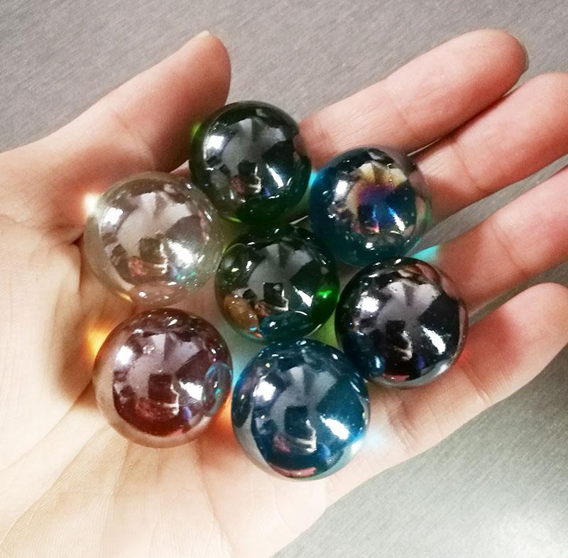 Lotto all'ingrosso 25mm perline di vetro creazione di gioielli fai da te marmi giocattolo del capretto Fish Tank Decor No Holes