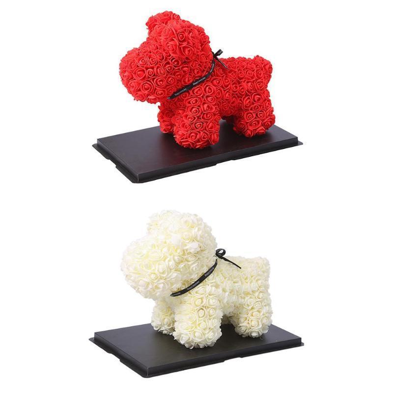 Kadınlar Düğün Sevgililer Hediye için Dog38cm Gül Sabun Köpüğü Çiçek 2 renk Yapay Yılbaşı Hediyeleri