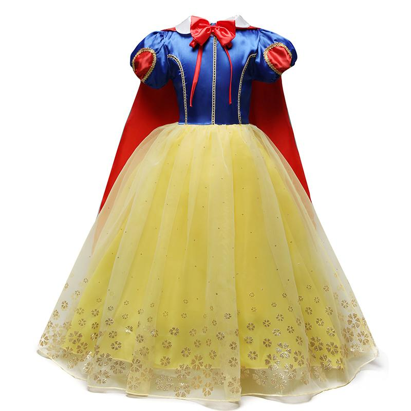 4-10 Years Fancy Cosplay Princess Snow White Costume Girls Dress For Holiday Halloween Gown Christmas Role-play Kid Girl Clothes Q190522