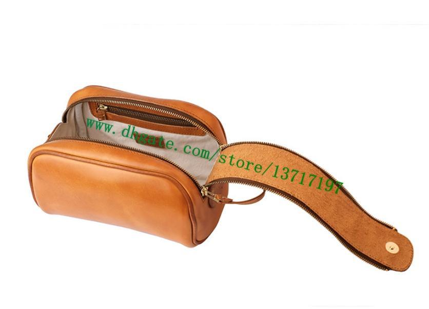 Top Grade Brown Checker Plaid Canvas Coated Real Leather N47527 KING SIZE TOILETRY BAG Double Zipper Cosmetic Toilet Bag