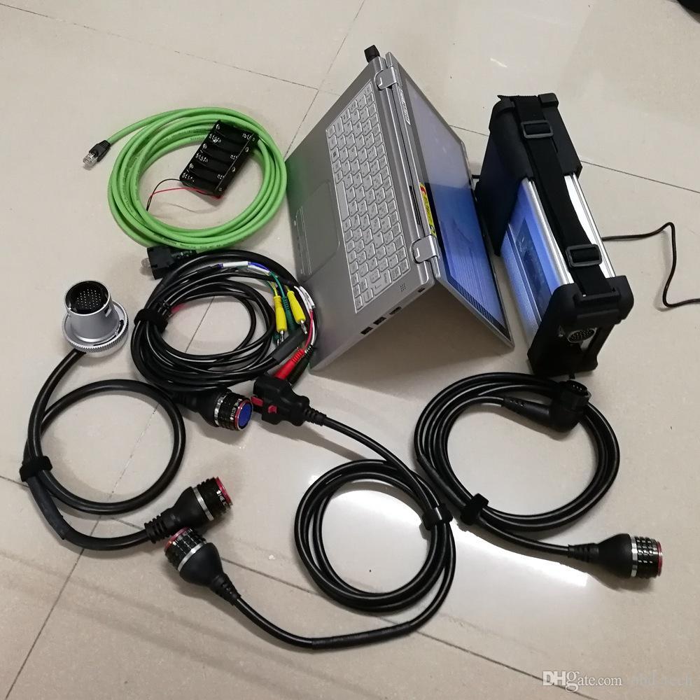 Используется CF-AX2 I5 8G с V09 / 2020 Soft посуды для MB ЗВЕЗДА C5 SD Compact C5 установлен хорошо MIni 480GB SSD Готов к использованию