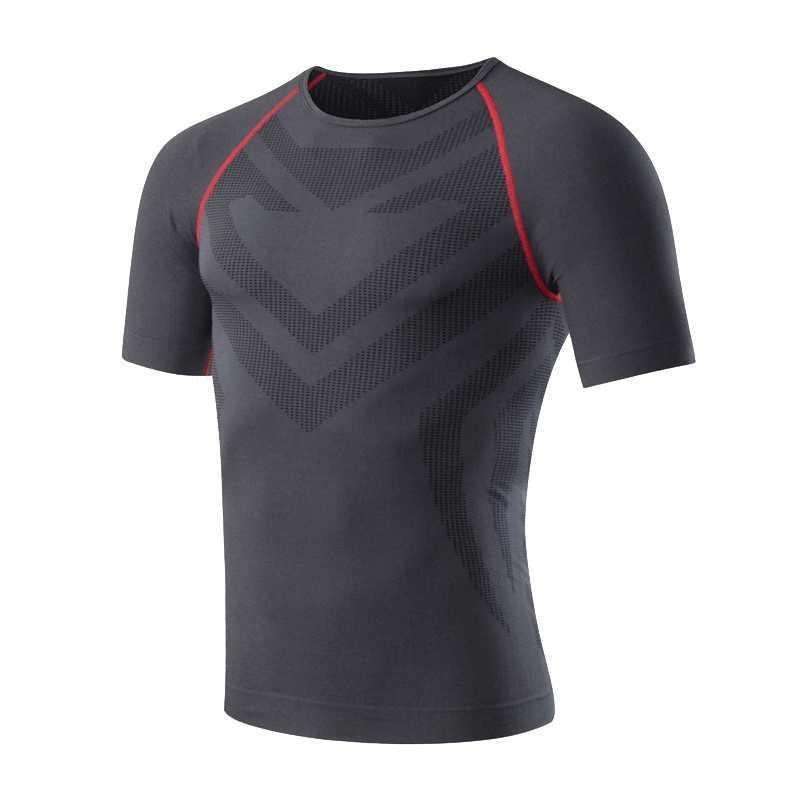 2020 YENİ Spor Giyim Erkekler Kısa Kollu T-shirt Erkekler Hızlı Kuru Spor Fitness Koşu tişört eğitim Giyim