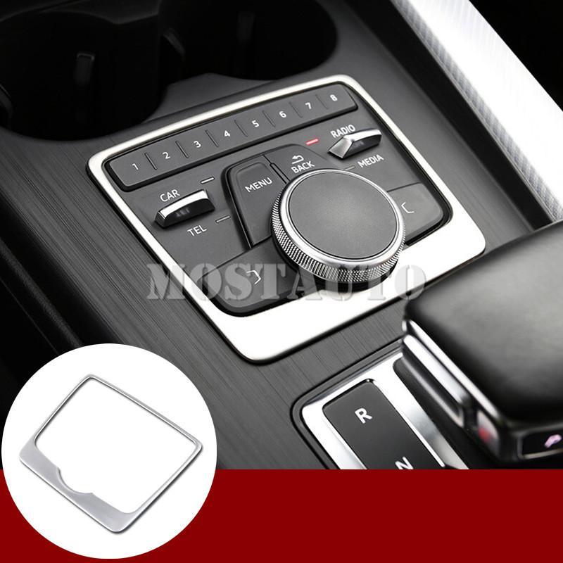 Per Audi A4 B9 interno Center Console Multimedia Pulsante telaio di copertura Trim 2016-2020 1pcs