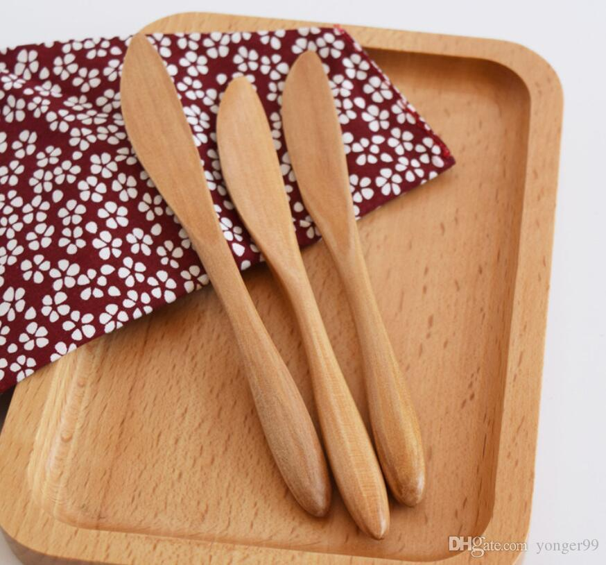 New Bread Jam Knifes 15.5 * 1.5 cm Breakfast Cheebsine Solid Wood Japanese Style Cutlery Free ship