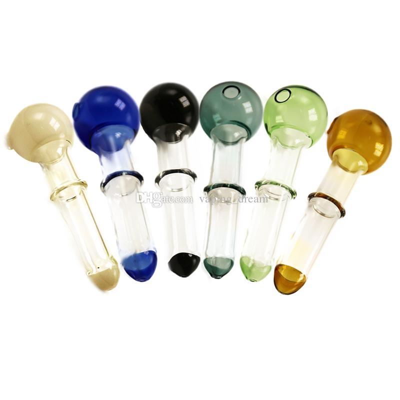2016 coloré verre Pyrex brûleur à huile Tuyau clair 17mm en verre brûleur à huile en verre Tube Water Pipe Oil Nail Livraison gratuite