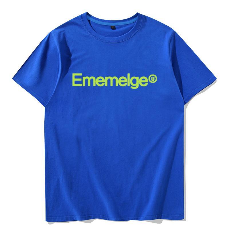 Ememelge manga curta camiseta Boa qualidade encabeça palavras venda Hot tee de algodão puro Colorfast vestido de impressão Roupa unisex tshirt