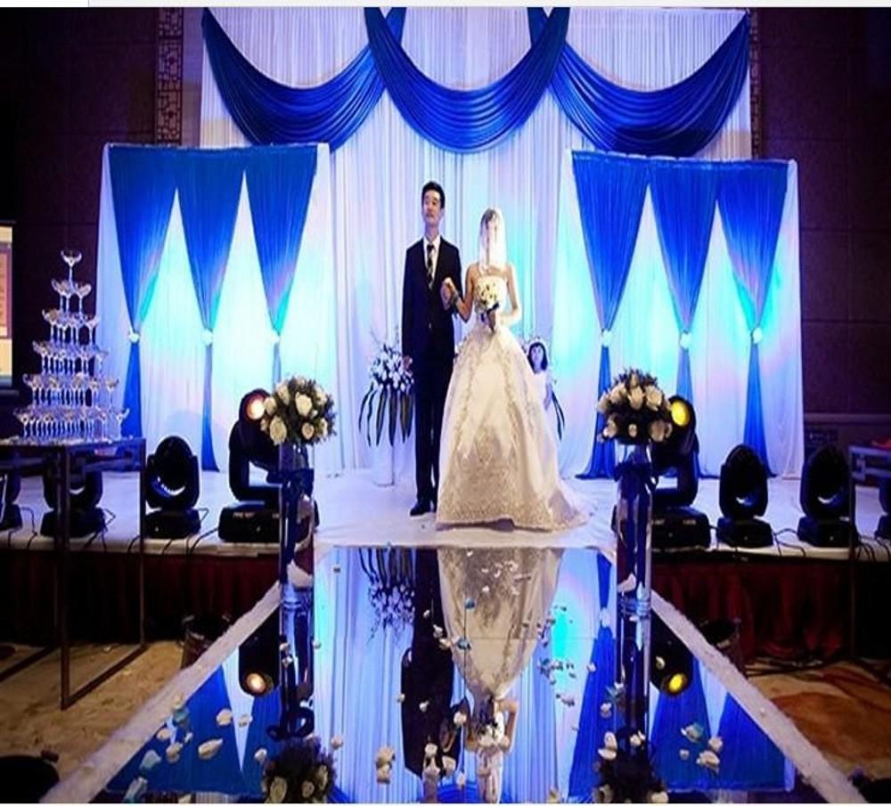 فاخر يرتكز عرس الحسنات مرآة السجاد السجاد الممر عداء 1M عرض لون الذهب والفضة لوازم حفلات الزفاف الديكور