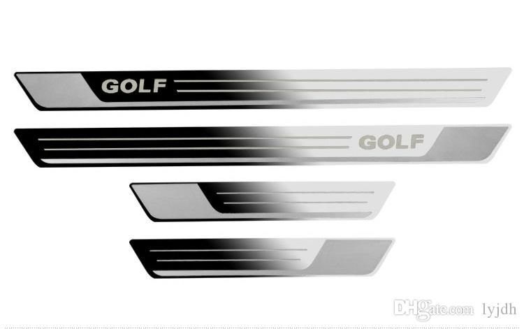 4pcs Stainless steel Slim Door sill scuff plate Fit For Golf 7 Golf 6 MK6 MK7 2011 2012 2013 2014 2015